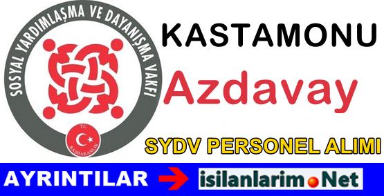 SYDV Kastamonu Azdavay Personel Alımı İş İlanı 2015