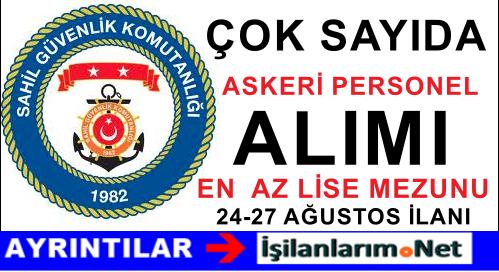 Sahil Güvenlik Komutanlığı Askeri Personel Alımı İlanı 2015