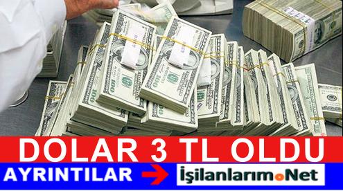 Dolar 3 TL'ye Dayandı Ağustos 2015 Dolar Tırmanışa Geçti