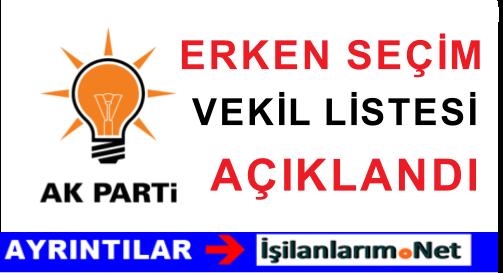 Ak Parti 1 Kasım 2015 Erken Seçim Milletvekili Aday Tam Liste