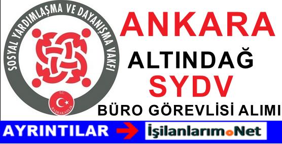 SYDV Ankara Altındağ Büro Görevlisi Alımı Başvurusu 2015
