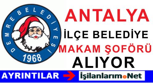 Antalya Demre Belediye Başkanlığına Sürekli İşçi Alımı İlanı