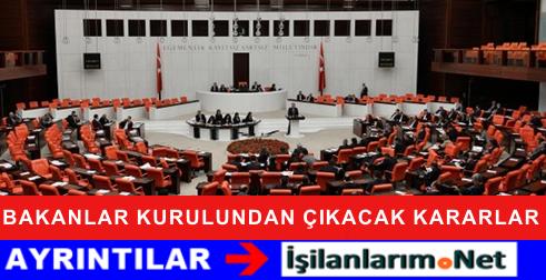 22 Eylül 2015 Bakanlar Kurulu Toplantısında Alınan Kararlar