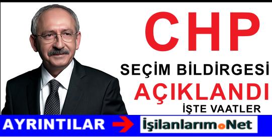 CHP 1 Kasım Seçim Bildirgesini Açıkladı.! İşte O Seçim Vaatleri
