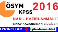 2016 KPSS'de Başarılı Olmak İçin Önemli Altın Kurallar Listesi