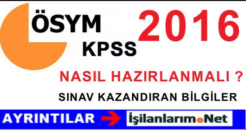 KPSS 2016 NASIL HAZIRLANMALI