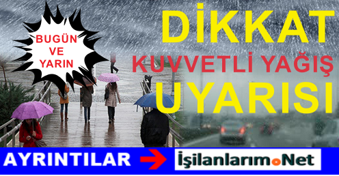 İstanbullular Dikkat: 29-30 Eylül Şiddetli Yağış Uyarısı Yapıldı