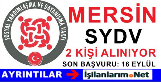 SYDV Mersin Bozyazı Personel Görevli Alımı İş İlanı