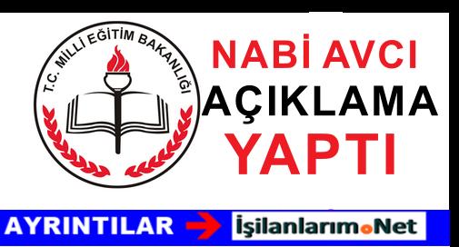 Nabi Avcı: 2015-2016 Yılı Eğitim Yılı Mesajında Neler Söyledi