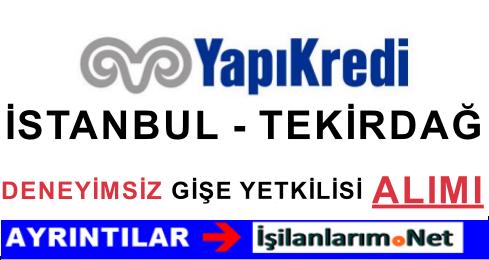 Yapı Kredi İstanbul'da Deneyimsiz Gişe Yetkilisi Alımı Yapıyor