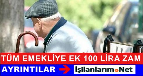 Tüm SSK-BAĞ-KUR Emeklisine 100 Lira Seyyanen Zam Var