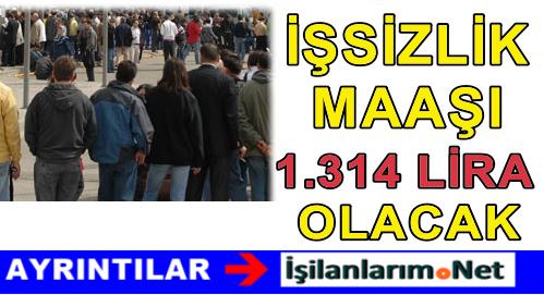 2016 Yılında En Yüksek İşsizlik Maaşı 1314 Lira Olacak