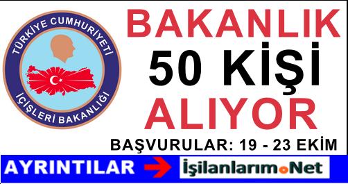 İçişleri Bakanlığı 50 İl Planlama Uzman Yardımcısı Alımı İlanı