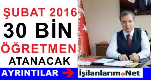 Hamza Aydoğdu: Şubat 2016'da 30 BİN Öğretmen Atanacak