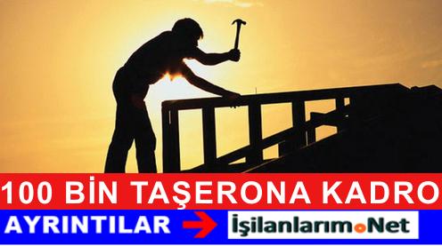 Devletten 100 BİN Taşeron İşçiye Kadro Yolu Göründü