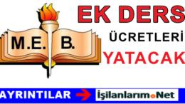 Öğretmenin 30 Ekim ve 2 Kasım Ek Ders Ücretleri Ödenecek