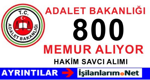Adalet Bakanlığı 800 Adli Yargı Hakim ve Savcı Adayı Alımı