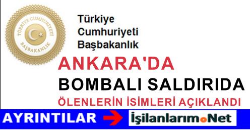 10 Ekim Ankara Bombalı Saldırıda Ölenlerin İsimleri Açıklandı