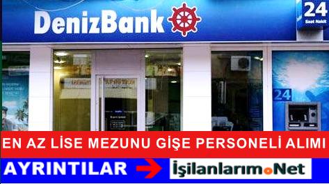 DenizBank Tekirdağ Çorlu'da Gişe Görevlisi Alımı Yapıyor