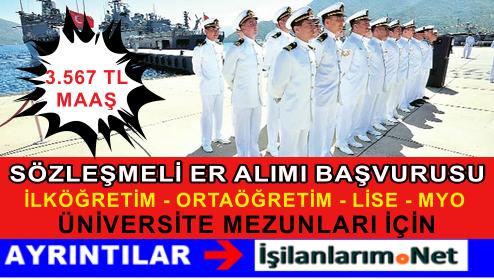 Deniz Kuvvetleri 2015 Yılı 4.Dönem Sözleşmeli Er Alımı İlanı