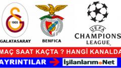 Galatasaray-Benfica Maçı 21 Ekim Hangi Kanalda Saat Kaçta