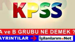 KPSS A Grubu ve B Grubu Kadroları Ne Anlama Geliyor ?