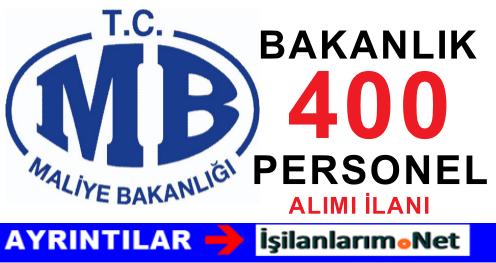 MALİYE 400 PERSONEL ALACAK