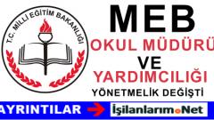 MEB Okul Müdürü ve Yardımcılığı Yazılı Sözlü Sınavlar Değişti