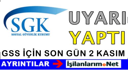 SGK GSS Prim Borcu Yapılandırmada Son Gün 2 Kasım