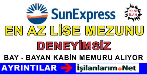 SunExpress Bay Bayan Kabin Memuru Hostes Alımı İlanları