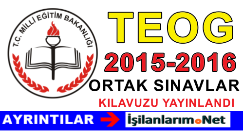 TEOG 2015-2016 ORTAK SINAVLAR KILAVUZU