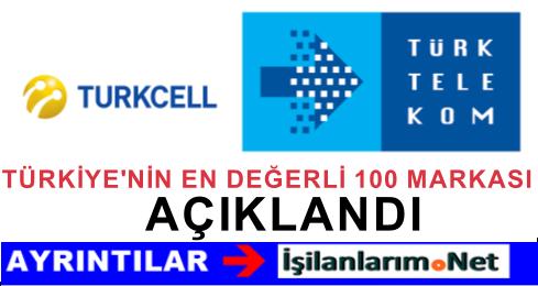 Türkiye'nin En Değerli 100 Markaları Şirketleri Açıklandı