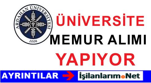 Ardahan Üniversitesi Memur ( Avukat ) Alımı İlanı Duyurusu