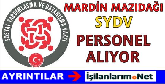 Mardin Mazıdağı SYDV Sosyal Yardım ve İnceleme Görevlisi Alımı