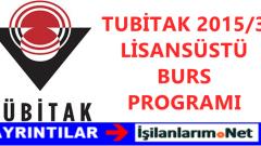 TÜBİTAK Yurtdışı Lisansüstü Doktora Burs İlanı 2015/3