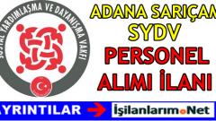 Adana Sarıçam SYDV Personel Alımı İlanı
