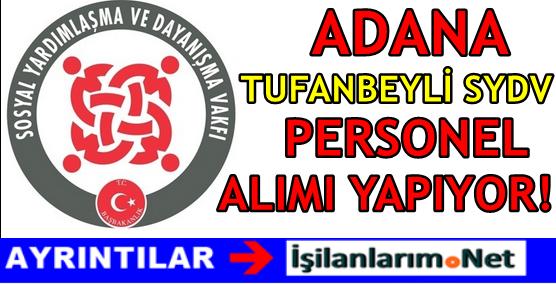 Adana Tufanbeyli SYDV Personel Alımı 2016