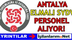 Antalya Elmalı SYDV Personel Alımı 2016