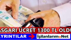 2016 Yılında Asgari Ücret 1300 TL Oldu