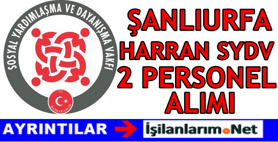 Şanlıurfa Harran SYDV Personel Alımı 2016