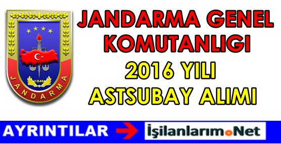 Jandarma Genel Komutanlığı Astsubay Alımı 2016
