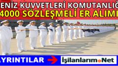 Deniz Kuvvetleri Komutanlığı 4000 Sözleşmeli Er Alımı 2016