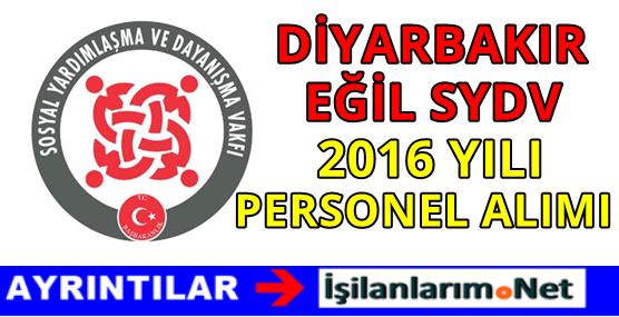 Diyarbakır Eğil SYDV Personel Alımı İlanı