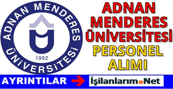 Adnan Menderes Üniversitesi Personel Alımı 2016