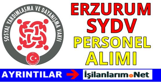 Erzurum SYDV Personel Alımı 2016