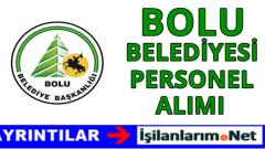 Bolu Belediyesi Personel Alımı 2016
