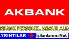 Akbank Personel Memur Alımı 2016