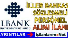 İller Bankası Sözleşmeli Personel Alımı 2016