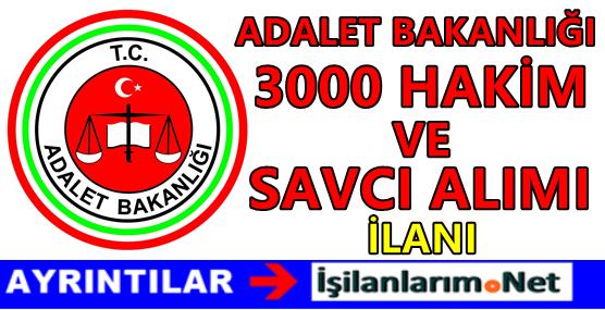 Adalet Bakanlığı 3000 Hakim ve Savcı Alımı