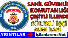 Tuzla Sahil Güvenlik Komutanlığı İşçi Alımı 2016